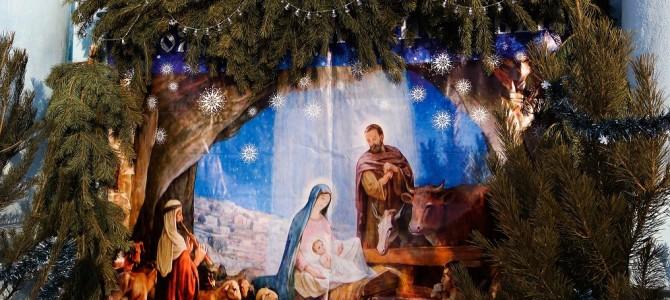 Соборную площадь Нерчинска впервые украсил Рождественский вертеп